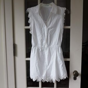 Urban Outfitters White Lace Accented Romper